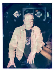 Stuart at The Graduate (2812 photography) Tags: polaroidlandcamera california portrait haveadrink peterrosos utata:project=godrinking fujifimfp100c negativereclamation eastbay instantfilm localbar utata:entry=6 analog film