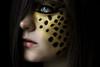 Cheetah (Lou Bert) Tags: wild portrait art girl face animal self paint heart makeup cheetah