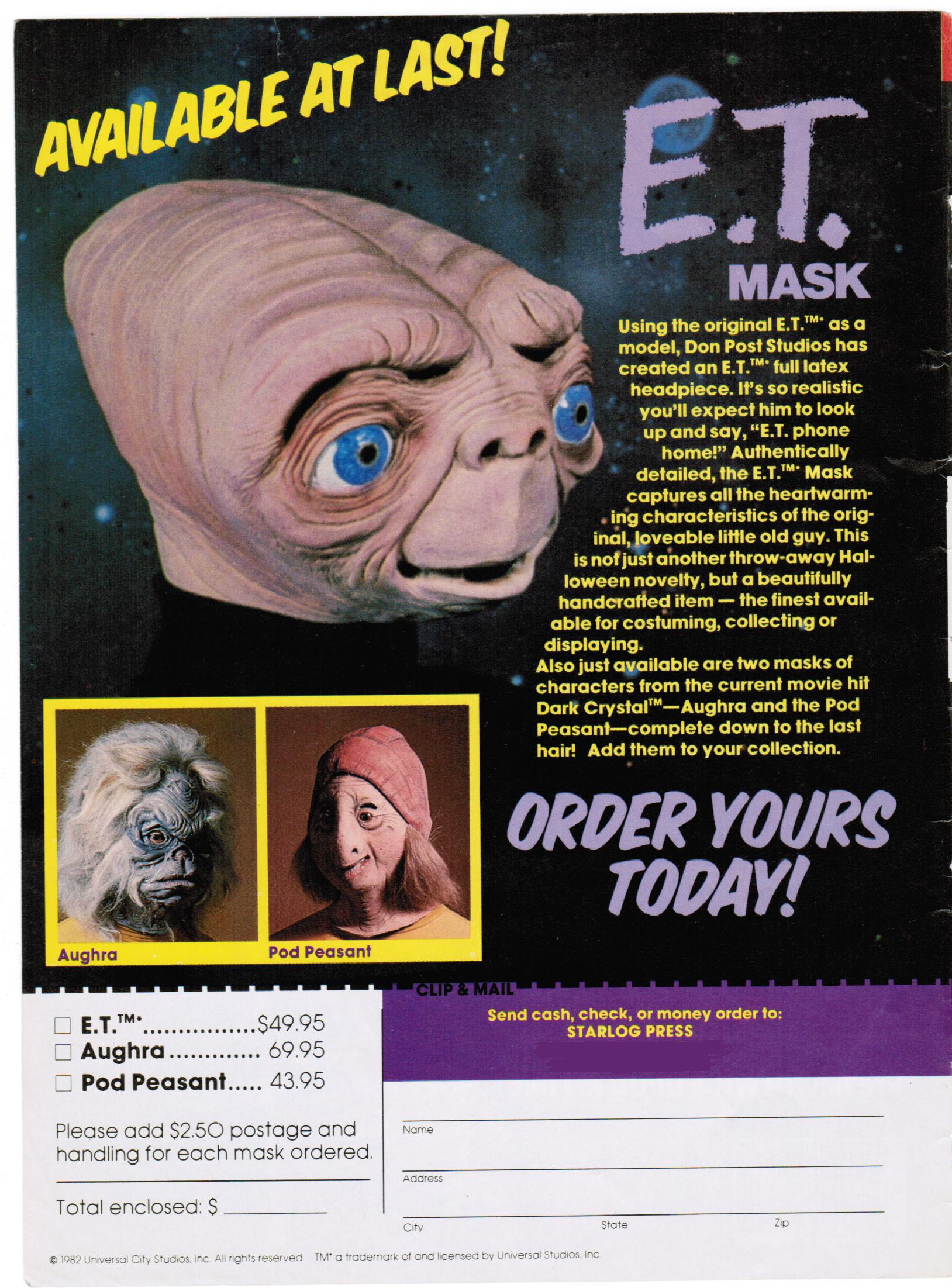 Halloween Mask Madness, Day 5: Don Post beyond the stars ...