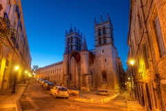 A Dusk Walk in Montpellier (Stuck in Customs) Tags: world city travel france castle history cars stone architecture digital french photography blog high europe republic exterior traffic dynamic stuck cathedral state dusk walk south capital montpellier medieval historic september southern photoblog software processing western historical imaging region range roussillon ecclesiastical department hdr languedoc tutorial trey romancatholic confluence travelblog customs 2010 southernfrance hrault herault erau diocese rpubliquefranaise ratcliff saintbenot hdrtutorial stuckincustoms lemidi montpelliercathedral treyratcliff photographyblog latinrite stuckincustomscom cathdralesaintpierredemontpellier montpelhir nikond3x llenguadocrossell lengadcrosselhon