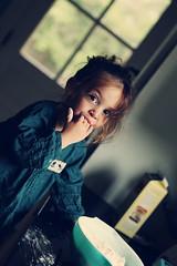 breakfast with the Beatles! (Ponteuf {lighteningmyload}) Tags: pancakes kid child beatles batter