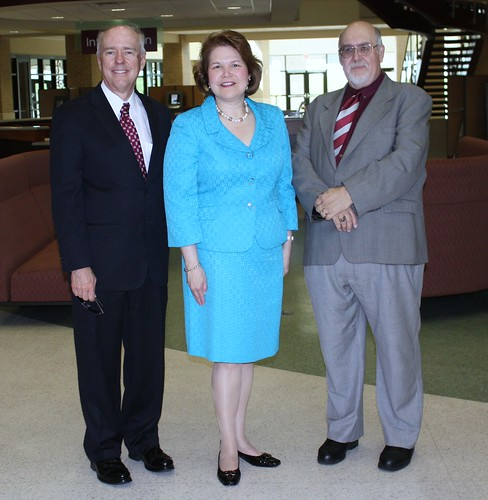 Judy Canales, Texas A&M International University President Dr. Ray M.Keck, III and Provost Pablo Arenaz