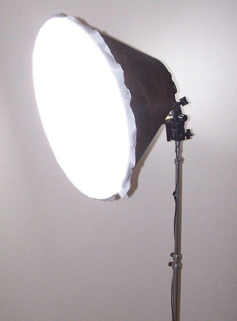 DIY Lampshade Softbox angle