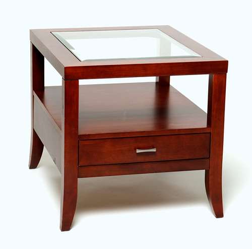 Modern square end table $100