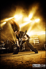 Meshuggah (Mathieu EZAN) Tags: show portrait music france colors festival photography lights concert nikon photographer sweden guitar live gig wideangle ibanez mainstage headbang hellfest meshuggah powerfull 2011 clisson mathcore grandangle 1424 d700 mrtenhagstrm mathieuezan