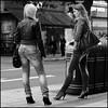 Body Shop.............aka Eat buns (ty Meral) (jonron239) Tags: girls london waiting highheels longhair jeans bags talking oxfordstreet bins leatherjacket londonstreets tightdenim
