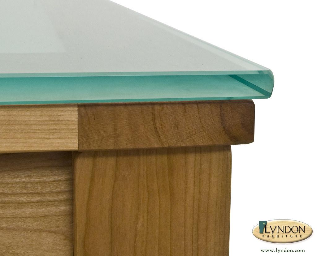 Lyndon Furniture, Velour Glass Table Detail