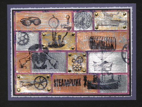 Steampunk Metal Tile Card