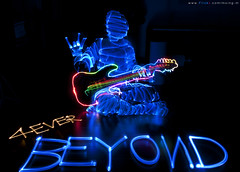 6.30   Forever BEYOND (mxingm) Tags: longexposure light music lightpainting man band beyond lightgraffiti