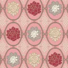 Pink Antique Ovals (Art Gallery Fabrics) Tags: pink flowers roses color green floral grey swatch decoration collection greens romantic chic decor timeless pinks greys swatches shabby dashing shabbychic artgalleryfabrics dashingroses patbravo patbbravo