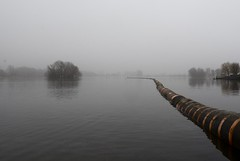 Floating tube in fog {EXPLORED} (Jodyvoshrotterdam) Tags: mist 3 netherlands fog tube july jody bingo interestingness56 zuidholland rotjeknor 2011 explored bergse tamron1118 voorplas floatingtube sonydsrla200 mooistestadvannederland jodyvoshrotterdam jodyvosh 3july2011 liesslang giantmetalwatersnake