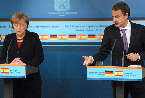 Merkel y Zapatero