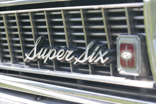 Datsun 2400 Super Six grille emblem