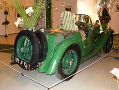 SINGER Nine (1965) (xavnco2) Tags: france green cars automobile antique nine vert muse singer british autos common lemans classiccars roadster cabriolet 1935 sarthe 24heures