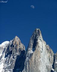 Moon Over Les Drus (Dave Snowdon (Wipeout Dave)) Tags: dru moon france mountains alps wall lumix climb rockface alpine granite northface chamonix gettyimages frenchalps bonatti aiguilledudru lesdru wipeoutdave