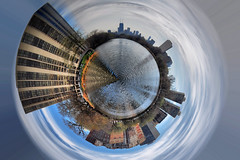 Planet North Pond 2 (Seth Oliver Photographic Art) Tags: chicago illinois nikon midwest cityscape skyscrapers lincolnpark pinoy chicagoskyline urbanscapes secondcity windycity chicagoist northpond d90 cityofbigshoulders littleplanets setholiver1