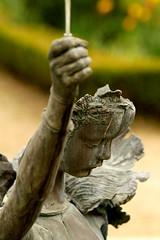 Statute - Parc de Scaux (m@deus) Tags: paris water fountain face parc sceaux bronz