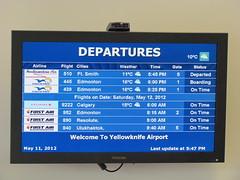 Flight to Edmonton was supposed to depart at 5:00pm (jimbob_malone) Tags: northwestterritories 2012 yellowknife