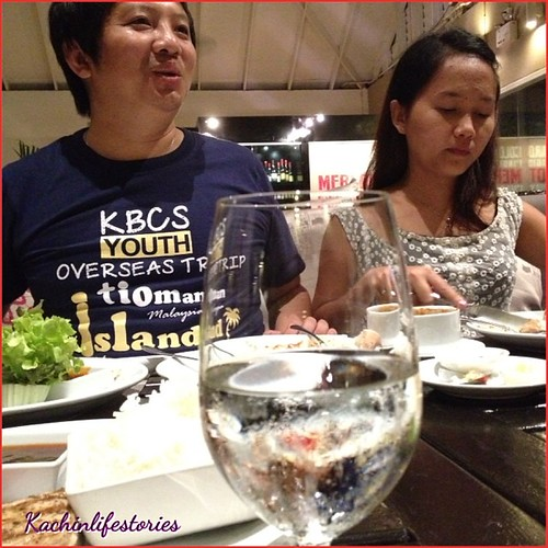 Dinner sha nga yang (sr.gam htun & sara jan) #kachinlifestories #dinner #hua #hin