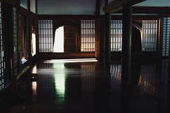 Japanese Traditional Light And Shadow Window Frame Light In The Darkness Indoors  Wooden Wooden Floor Flooring No People Old School Hall Okayama Okayama,Japan August 2016 (null)Hello World Atomosphere Travel (T.M Photos) Tags: japanesetraditional lightandshadow windowframe lightinthedarkness indoors wooden woodenfloor flooring nopeople oldschool hall okayama japan august2016 null helloworld atomosphere travel