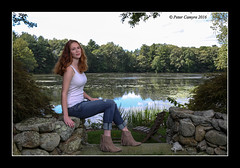 AMANDA - POND (Peter Camyre) Tags: peter camyre photography september 24 2016 canon portrait white tank top blue jeans boots rhode island group shoot ponds recreation ef2470mmf28liiusm
