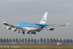 PH-BFD Boeing 747-400 KLM Schiphol EHAM 25.06-16 (rjonsen) Tags: plane airplane aircraft jumbojet approach arrival landing schiphol amsterdam flying flight