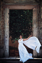 Apple of Discord: Hera (Arianna Ceccarelli Photography) Tags: conceptual portrait photography photographer hera greek myth people girl woman white dress queen goddess wind beautiful styling fineart hair nature
