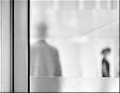 F_DSC6049-BW-Nikon D800E-Nikkor 28-300mm-May Lee  (May-margy) Tags: maymargy bw        streetviewphotographytaiwan  linesformandlightandshadows  mylensandmyimagination  naturalcoincidencethrumylens humaningeometry taiwan repofchina    fdsc6049bw portrait glass doors door frame blur bokeh yulincounty nikond800e nikkor28300mm maylee blackwhiteandbetween blackwhiteandthegraysinbetween