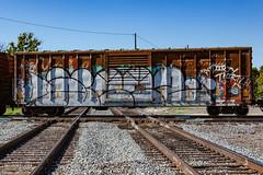 (o texano) Tags: houston texas graffiti trains freights bench benching dts defthreats d30 adikts a2m wyse