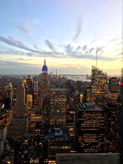New York City (ryanisaacs123) Tags: bigapple midtownmanhattan rockefellercenter sunset nyc topoftherock newyorkcity manhattan iphone7plus