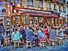 Entering Lourdes, France... (williamcho) Tags: people france photoshop relax break digitalediting atm sidewalks pointshoot pyrenees groups lourdes streetcafe ourladyoflourdes bernadettesoubirous marianapparitions topazlabadjust williamcho sonydscwx1 patrickcheah