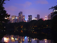 New York, NY - Central Park (spheresandotherprimitives) Tags: park new city lake night lights time yok central