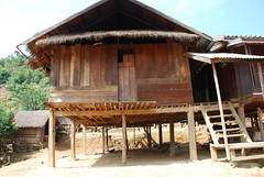 Wooden House in Laos village, Ban Mon. (Noel Molony) Tags: family children rice health stories waterpumps healthcentre monvillage concernstaff educationonhealth hamkongvillage haumeuangdistrict pakhataivillage pasortvillage salongvillage salorvillage samhouay sopkhamvillage tarkaivillage thathvillage