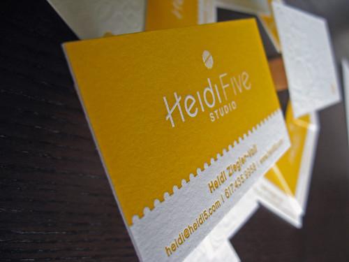 Heidi 5 Studio Letterpress Cards