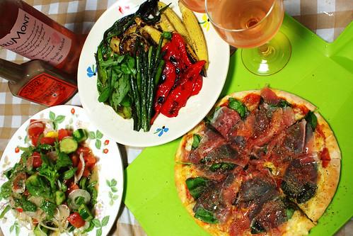 神奈川産野菜のディナー