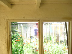tuin 2011/3 (JosDay) Tags: flowers windows light summer window mystery garden ventana licht bokeh fenster dreaming finestra zomer janela tuin fentre glas pointshoot bloemen raam vindue throughtheglass fnster vitrina ikkuna  ablak pencere vogelwijk fereas