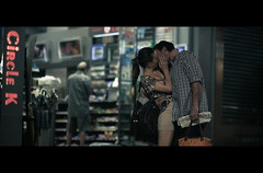 Kiss (James Yeung) Tags: street love night dark hongkong kiss couple candid romance romantic lover cinematic