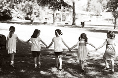 Hold on to Your Best Friends (kderty74) Tags: birthday park friends party blackandwhite cute girl holding hands little too inaline 5yearold walkingtogether
