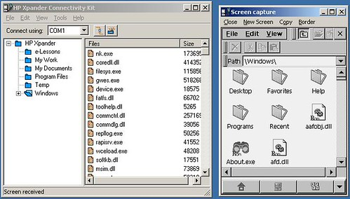 Screenshot of Xpander connection software
