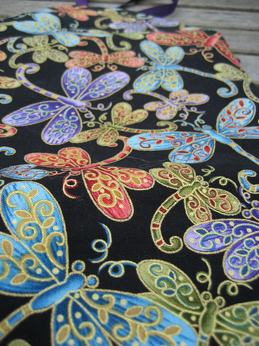 Detail of the dragonfly fabric