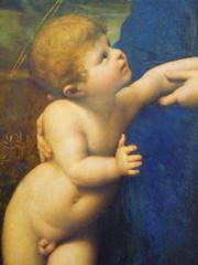 Raphael, La belle jardinière, detail of Christ