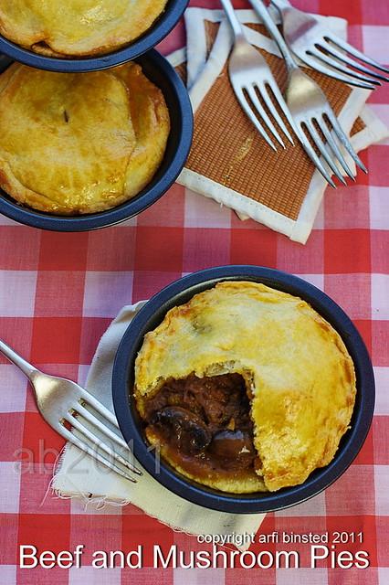 Beef and Mushroom Pies
