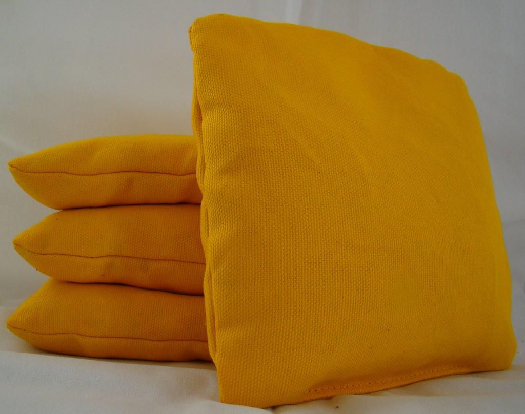 Yellow Cornhole Bags