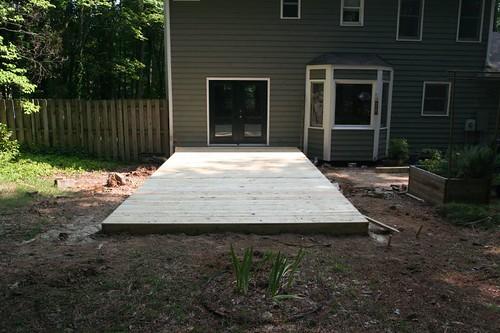 the new deck floor