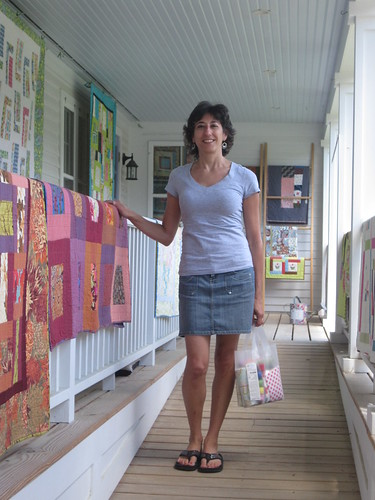 Me at Waterwheel House Quilt Shop