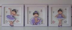 trio quadros bailarinas (Imer atelie) Tags: 3 minas artesanato infantil mineiro trio decora menina artes decorao pintura roxo mdf quadros lilas sapatilhas balet bailarinas danando bal delicado molduras menininhas borboletinhas espacato imeratelie trioquadrosbailarinastrio
