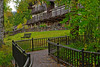 Lake McDonald Lodge (bhophotos) Tags: travel autumn usa geotagged hotel nikon montana lodge glacier sidewalk glaciernationalpark railing gnp mcdonaldlake d700 2470mmf28g mcdonaldlakelodge bruceoakley