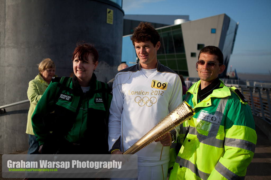Olympic Torch at the Deep-0840