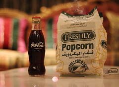 Coca-Cola + Popcorn + movie (Mr.3zo00oz) Tags: movie popcorn cocacola