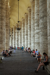 Column lunch pause (mic00l) Tags: street summer italy vatican roma canon eos italia day shot candid 6d 24105mm